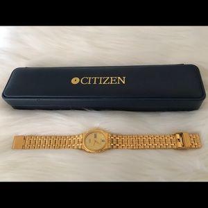 Golden Women's Vintage Citizens Watch